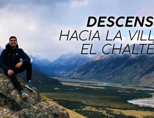 Descenso hacia la villa El Chaltén